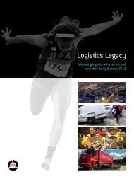 Logistics Legacy – Olympics - Freight Transport Association