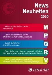 Circutor Neuheiten 2010 - Ulrichmatterag.ch