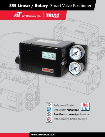 SS5 Linear / Rotary Smart Valve Positioner - AT Controls