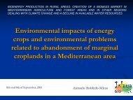 Environmental impacts of energy crops and environmental ... - imida