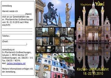 Flyer Anmeldung Wien - evangelischer Kirchenkreis Südharz