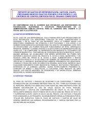REPORTE DE GASTOS DE REPRESENTACIÓN Marzo 2009