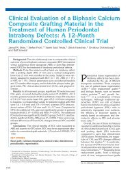 Clinical Evaluation of a Biphasic Calcium Composite Grafting ...