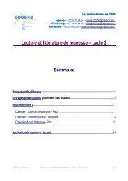 Lecture et littérature de jeunesse – cycle 2 - CRDP Basse-Normandie