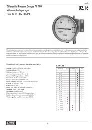 Differential Pressure Gauges PN 100 with double diaphragm Type ...