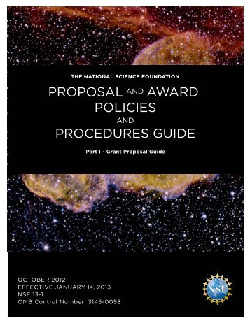 Nsf 01 2 Grant Proposal Guide Department Of Biology