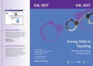 brochure - X4L - SDiT - UK Data Archive