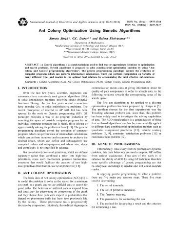 Ant colony optimization research papers