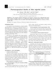 Pharmacognostical Studies of Vitex negundo Leaves