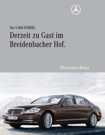 Derzeit zu Gast im Breidenbacher Hof. - Aktuelles aus den Hotels ...