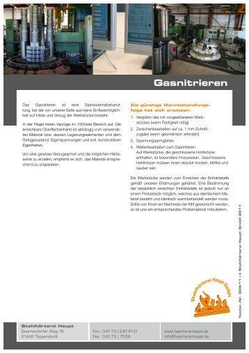 Gasnitrieren - Stahlhärterei Haupt