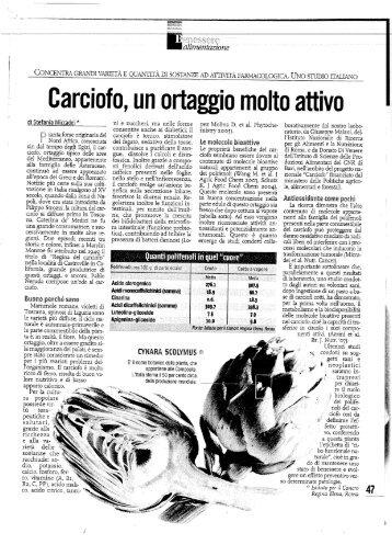 Carciofo, un ortaggio molto attivo - a.na.d.ma.