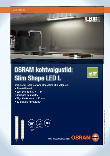 OSRAM kohtvalgustid: Slim Shape LED I.