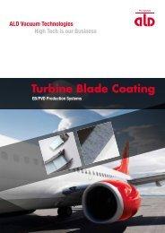 Turbine Blade Coating - ALD Vacuum Technologies