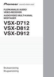 VSX-D712 VSX-D812 VSX-D912 - Service.pioneer-eur.com - Pioneer