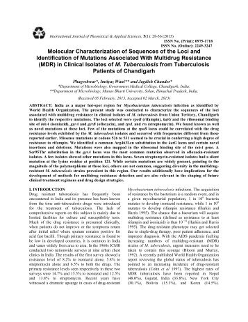 Molecular Characterization of Sequences of the Loci and ...