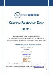 KRDS2 report - UK Data Archive