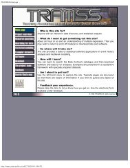 TRAMSS Home page - UK Data Archive