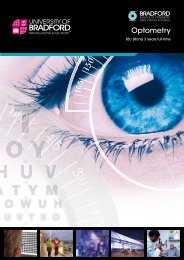 Optometry course brochure - University of Bradford
