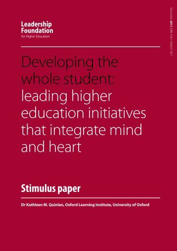 Developing the whole student - Oxford Learning Institute - University ...