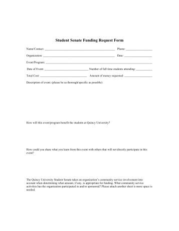 Tiger Fund Request And Guidline Forms - Wittenberg University