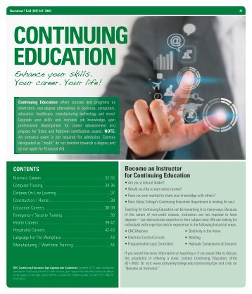 CONTINUING EDUCATION - Rock Valley College