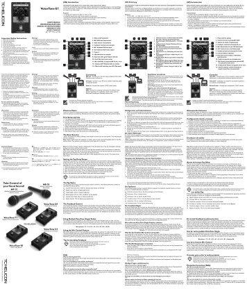 VoiceTone E1 - TC-Helicon