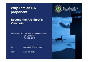 Why I Am An EA Proponent - Digital Government Institute