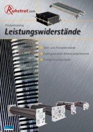 Produktkatalog Leistungswiderstände - Ruhstrat GmbH