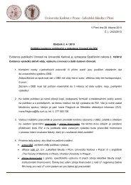 Oběžník děkana č. 4/2013 - Lékařská fakulta v Plzni - Univerzita ...