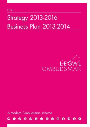 Strategy (2013-2016) and Business Plan - Legal Ombudsman