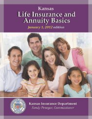 Life Insurance and Annuity Basics - Kansas Insurance Department