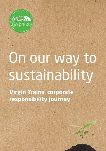corporate responsibility report - Virgin Trains