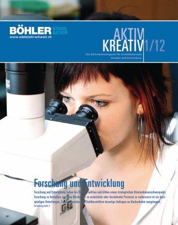 kreativ 1/12 AKTIV - böhler-uddeholm schweiz ag