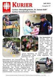 Juli 2013 - Caritas-Altenpflegeheim St. Antoni-Stift Ostritz