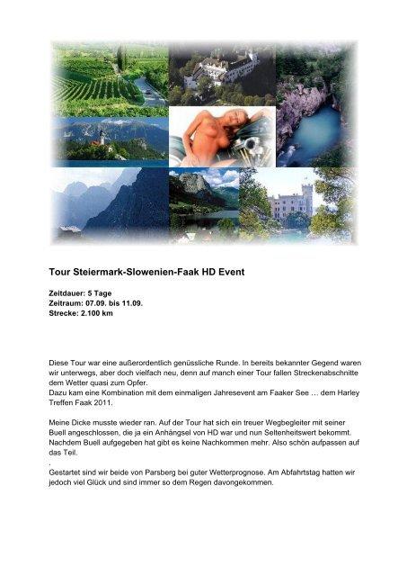 Tour Steiermark-Slowenien-Faak HD Event - Lammis-Moto-Site