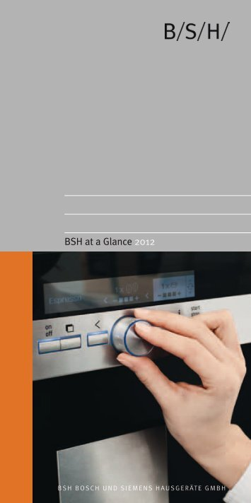 BSH at a Glance 2012