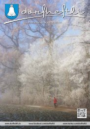 Das offizielle Monatsmagazin für Leutwil 01 / 2014 - dorfheftli