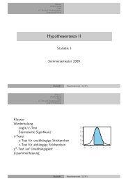 Hypothesentests II - Kai Arzheimer