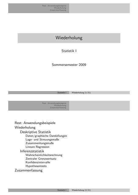 Wiederholung - Kai Arzheimer