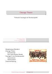Cleavage Theorie - Kai Arzheimer