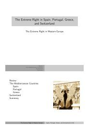 The Extreme Right in Spain, Portugal, Greece, and ... - Kai Arzheimer