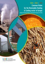 Common Vision for the Renewable Heating & Cooling ... - Europa