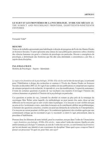Artigo 1 - V3N1 - Revista Estudos e Pesquisas em Psicologia