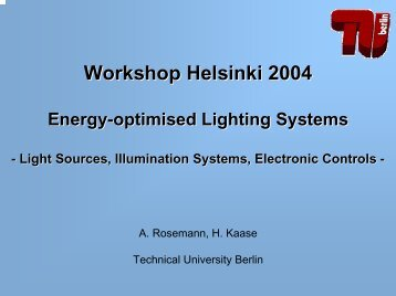 Energy-optimised Lighting Systems
