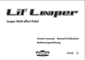 Lil' Looper Owner's manual - Vox