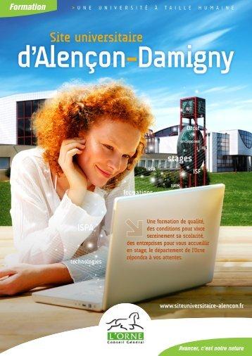 Les formations du site universitaire d'Alençon-Damigny - Conseil ...