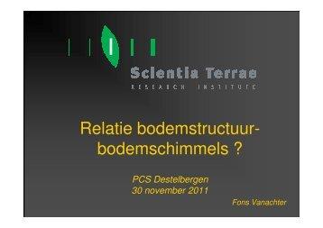 Relatie bodemstructuur- bodemschimmels ? - PCS