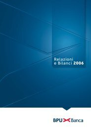 Relazioni e Bilanci 2006 - UBI Banca