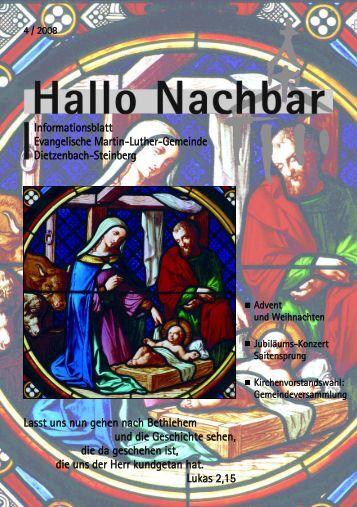 7. Dezember 2008 - Evangelische Martin-Luther-Gemeinde